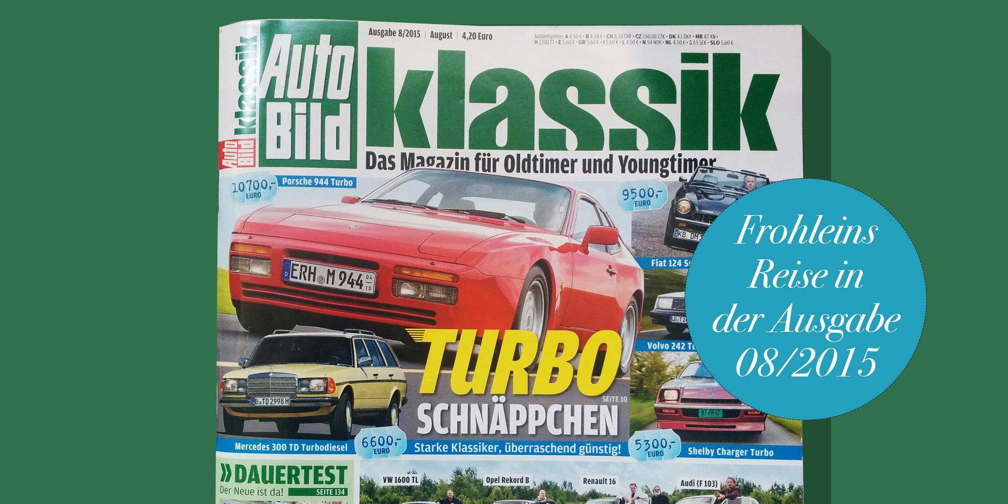 Cover Autobild Klassik 08/2015